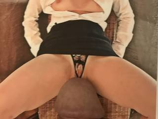 She wanted to see my cock with her tight, sexy pussy. Who am I to turn down such a request?