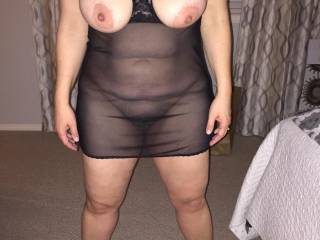 Curvy mature wife and her big titties