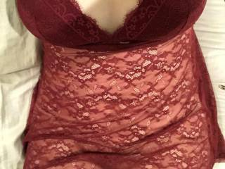 Showing off new lingerie for my husband