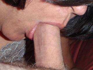 I love the taste and feel of a hard cock in my mouth!