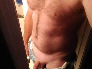 Beautiful chest, love the hair! Just the way a man should be!!