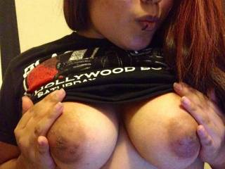 I want to suck your gorgeous tits and nipples till i feel your sex juices dripping down your thighs... then you will be ready for a deep and hard fuck...