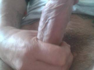 Just stroking my huge cock. Want to ride and suck it?
