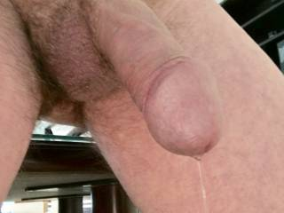 Precum flowing from nipple teasing...gawd I enjoy that!