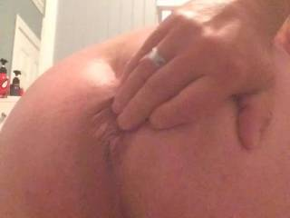 Quick butt hole play!! Get ready for big dildos!!!