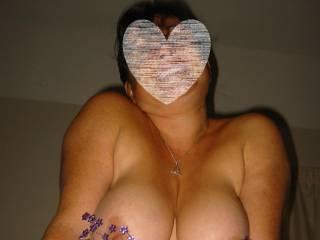 Woman fucked by men wearing penis plugs