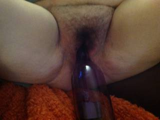 a nice hairy pussy I had the pleasure to play with and fuck the other night