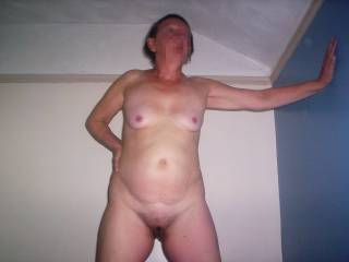 wife posing showing off her mature body hope you like