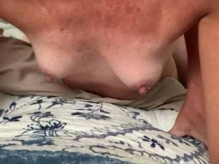We were supposed to meet up in the chat room and I was going to fuck her from behind while she watched a member jerk off to her. Missed the meeting time, so we fucked and made a quick video.
