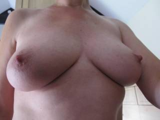 What he said...perfect!! Would love to see those hard nipples unrestricted by a bra under a thin tank-top...mmm