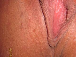 Fantastic lips and a big beautiful clit - nice and smooth too, we love it