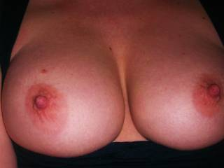 and they're absolutely gorgeous!  I'd love to kiss, suck and nibble on those nipples until they're long and hard..