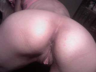 I want you behind me ! Would you fill me deep with your cock and seed ?