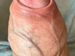 Just my veiny foreskin around my hard cock ...