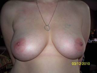 Holy cow, those are almost the same tits that I posted :)  Luv em! and thanks can't wait to see more.  Warmest regards,  B