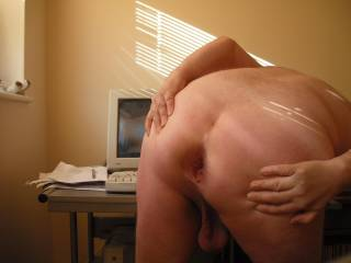 Love to have my asshole fucked by a lady\'s tits which is what I\'m watching some hot babe doing to a guy on the screen