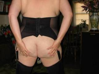 The striptease continues. My 53yro wife teases me with her big sexy ass.