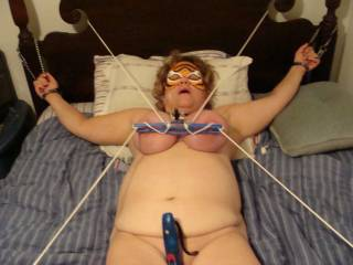 bed bound tits tied and clamped