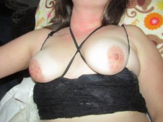 loves wraping them up   she loves rough nipple play wanna smack them?