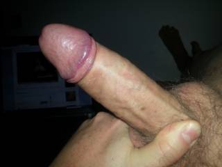 Mmmmm, your huge cock is so desirable... My pussy is already wet for you, big boy... Let me suck it, make it hard as rock and then ride it and bounce till you fill the depths of my cunt with your cum blast...