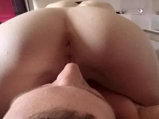 take a look at that perfect round booty and her freshly shaved juicy pussy. Would you like to fuck her in that sexy ass?