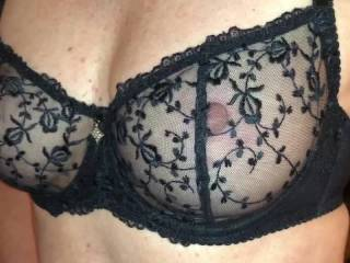 In our hotel changing clothes getting ready to go out to dinner In Monterey CA! This Uber ride will be interesting to see how our driver reacts with the wife wearing a see through top over this bra!!! Can't wait to see the reaction, hoping it's a guy