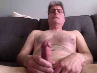Jerking my cock and cumming