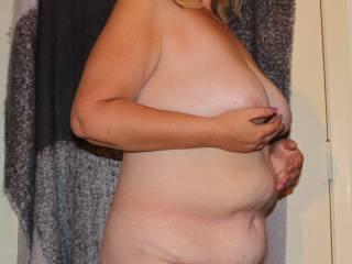Bbw boobs and bush