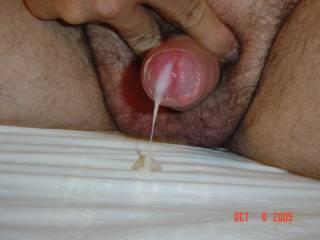 Tiny dick cumming