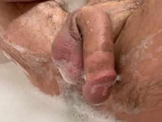 love getting nice wet, soapy, hot, and hard in a bath...some much more fun with others....