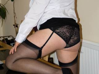When we decided to do a shoot,  Mrs H decided on dressing up as a naughty schoolgirl.