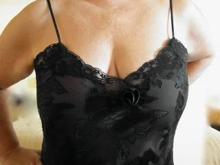 Love black see-through lingerie.  Sexy, don\'t you think?