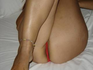 Well babe ;-) I love beautiful feet ...and you have very sexy feet, but I also love that sexy ass and hot body too !! Mmmmmm
