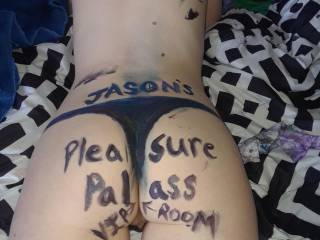 Lol sexy fun with hubby let him paint my body (his pleasure palace)