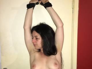 tied up showing tits