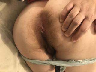 While I was fucking my wife...she wanted to show me her asshole. Truth...the smell was so great. Love her asshole.