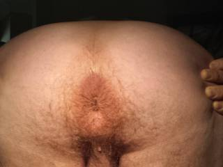 View  of  tight  ass hole, balls & cock from behind. What  do  you  think  women? Any women want  to  fuck my ass with  a  strapon or a dildo?