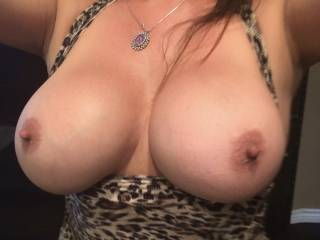 How would you use my wife's big tits and gorgeous nips?