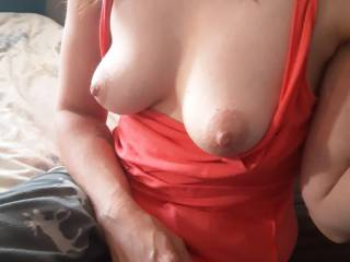 Got her too pull her tits out