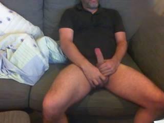 very messy & horny june on sofa