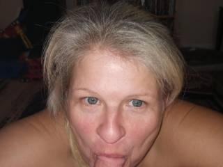 Cyndi sucking my cock