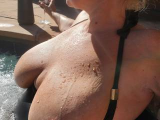 Sun kissed wet boobies for your viewing pleasure!