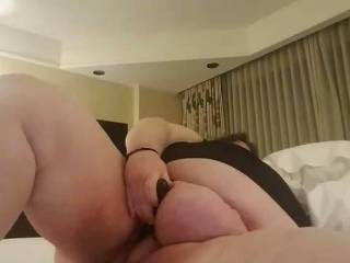 A bbw playmate send me a video of her with her new toy