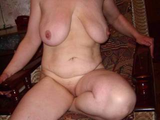 Great body love those big hanging udders and natural belly