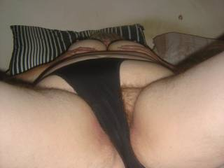 Move those pants aside so I can slip my cock deep inside you. I would love to watch your big titties bounce as I fuck you hard.