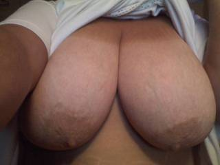 After a very long sucking session! I would have to get a good long session of sucking and nibbling on those beautiful nipples and areola! Your breasts are an absolute dream!