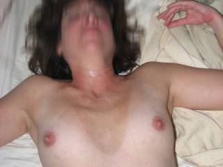 shooting my load on small but sexy tits
