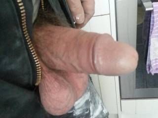 Now that's truly sexy and very arousing, love to pop that bunch in my mouth and feel him grow to his full potential