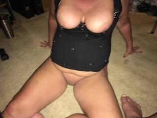 55yo wife big tits and nipples