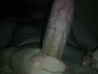 This is one of my favorite photos of my husband\'s dick seeing how hard veiny it is makes my pussy tingle